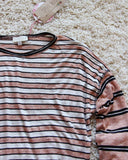 Tie & Stripe Cozy Tee in Desert: Alternate View #2