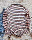 Tie & Stripe Cozy Tee in Desert: Alternate View #4