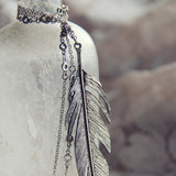 Timber Feather Necklace: Alternate View #2