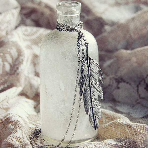 Timber Feather Necklace: Featured Product Image