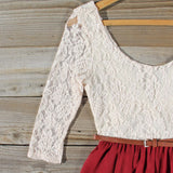 Timber Lace Dress in Burgundy: Alternate View #2