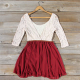 Timber Lace Dress in Burgundy: Alternate View #4