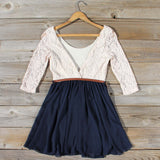 Timber Lace Dress in Navy: Alternate View #4