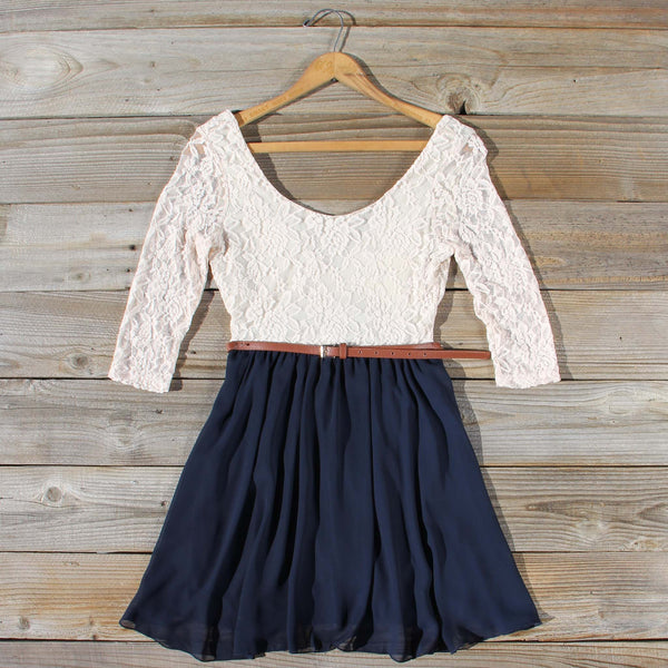 Timber Lace Dress in Navy: Featured Product Image