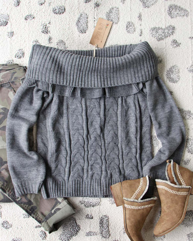 Timberline Cozy Sweater in Gray