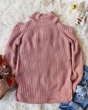 Toasty Knit Sweater in Mauve: Alternate View #1