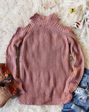 Toasty Knit Sweater in Mauve: Alternate View #4