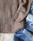 Toasty Knit Sweater in Taupe: Alternate View #3