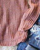 Toasty Knit Sweater in Mauve: Alternate View #3