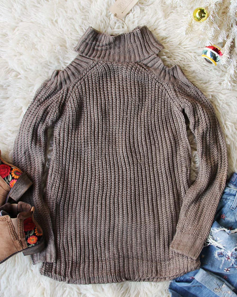Toasty Knit Sweater in Taupe: Featured Product Image