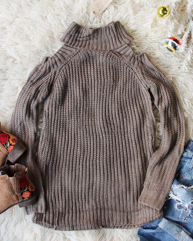 Toasty Knit Sweater in Taupe