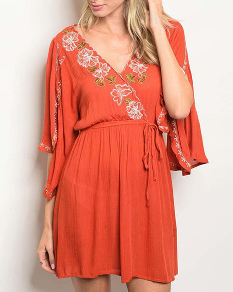 Toujours Dress in Rust: Featured Product Image