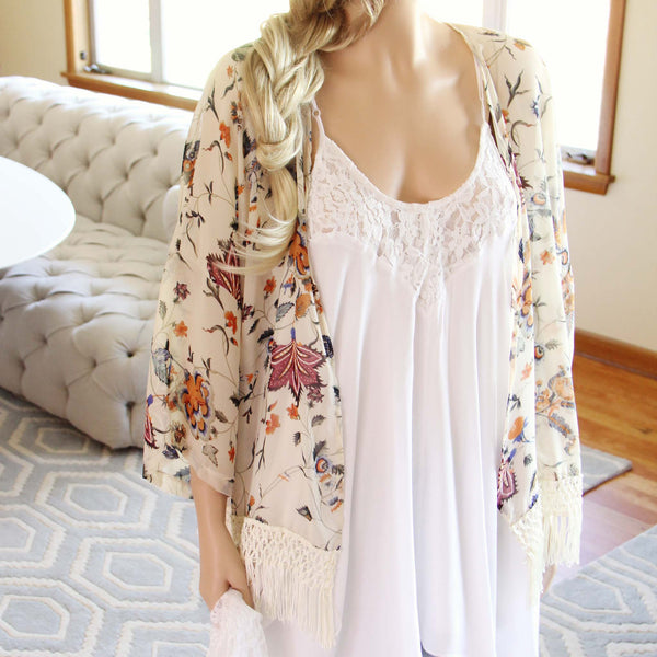 Trellis Fringe Duster: Featured Product Image