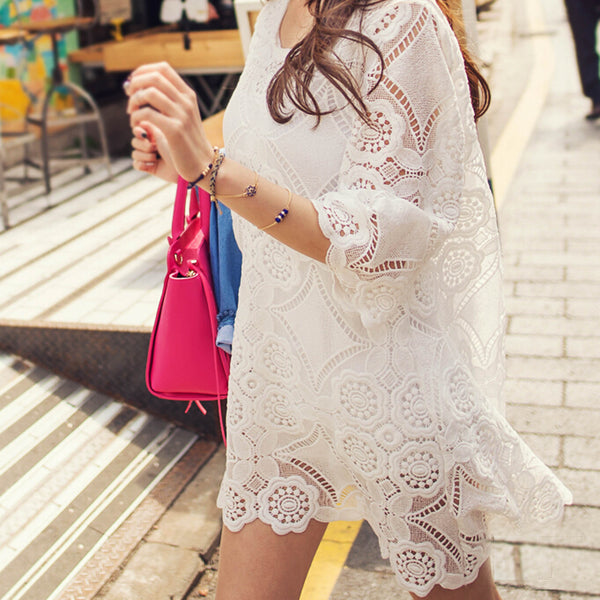 Tulla Lace Tunic: Featured Product Image