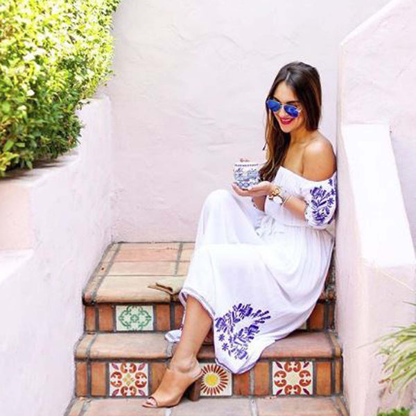 Tulum Maxi Dress in White: Featured Product Image