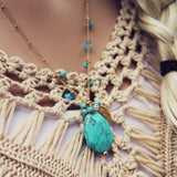 Turquoise Hunter Necklace: Alternate View #1