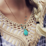 Turquoise Hunter Necklace: Alternate View #2