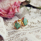 Turquoise Sands Stud Earrings: Alternate View #1