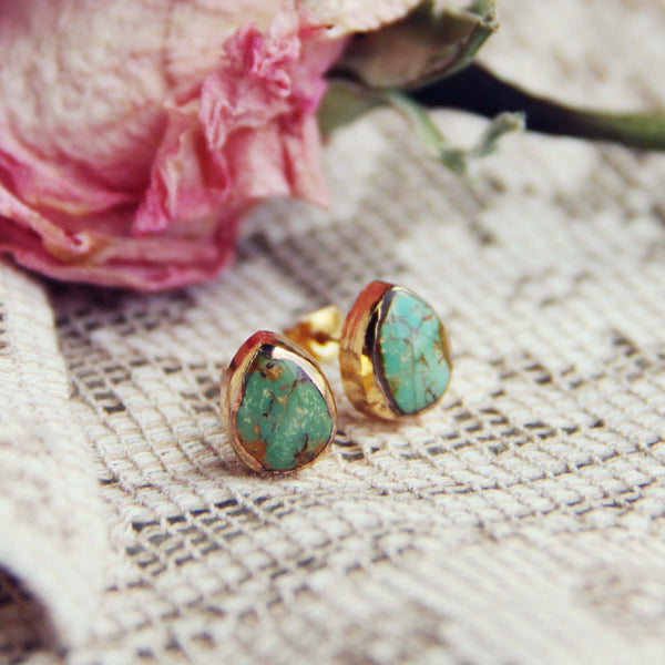 Turquoise Sands Stud Earrings: Featured Product Image