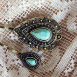 Turquoise & Stone Hair Pins: Alternate View #3