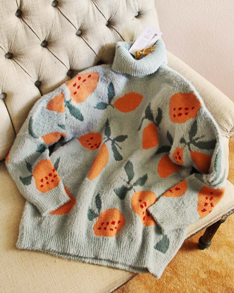Tutti Fruity Sweater in Mint: Featured Product Image