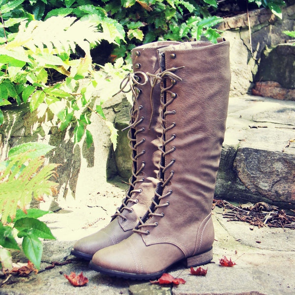Upper County Boots in Beige: Featured Product Image