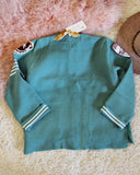 Varsity Sweater in Mint: Alternate View #3