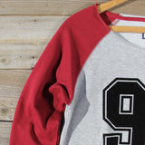 Varsity Sweatshirt in Burgundy: Alternate View #2