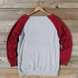 Varsity Sweatshirt in Burgundy: Alternate View #4