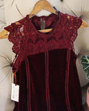 Velvet & Lace Tunic Dress: Alternate View #2