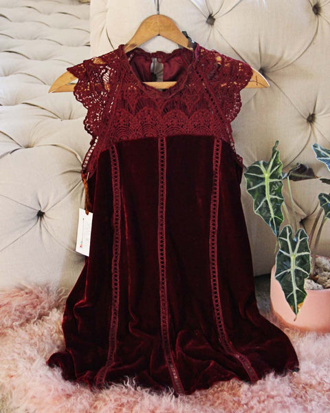 Velvet & Lace Tunic Dress: Featured Product Image