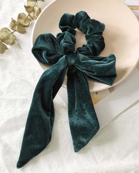Velvet Scrunchie in Forest: Featured Product Image