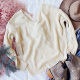 Venice Cozy Sweater in Cream: Alternate View #5
