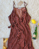 Villa Wrap Dress in Brown: Alternate View #1