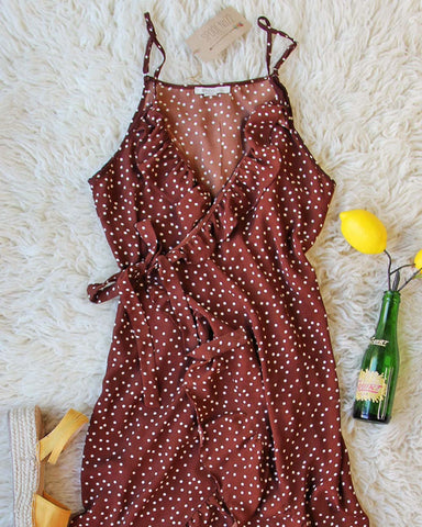 Villa Wrap Dress in Brown