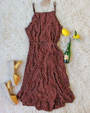 Villa Wrap Dress in Brown: Alternate View #2
