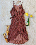 Villa Wrap Dress in Brown: Alternate View #3