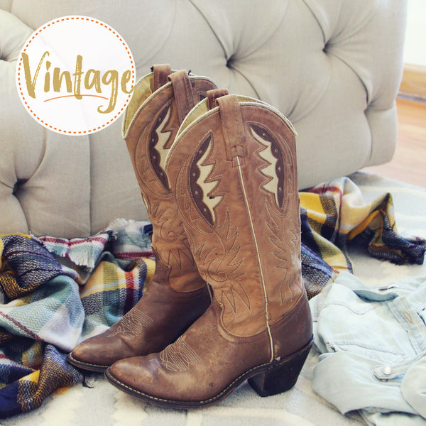 Vintage Autumn Stitch Boots: Featured Product Image