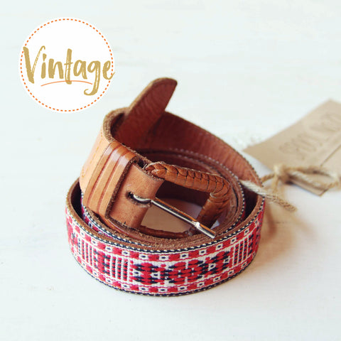Vintage Boho Embroidered Belt
