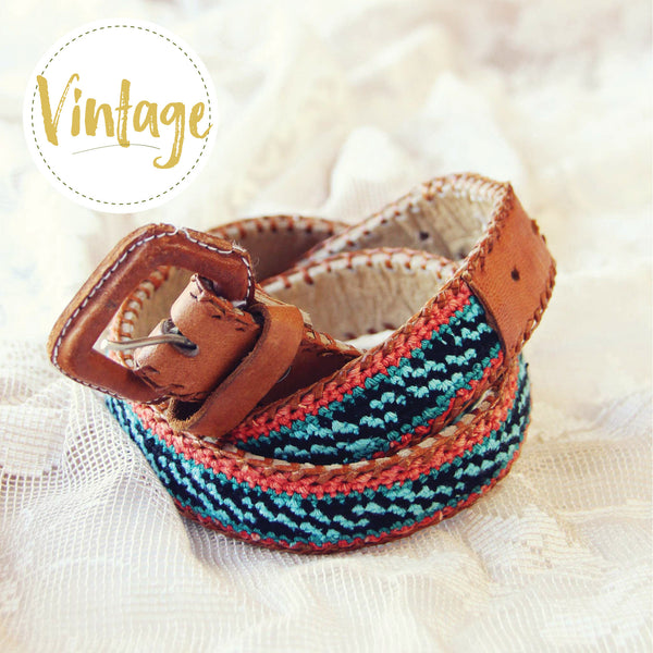 Vintage Embroidered Belt: Featured Product Image