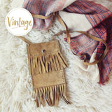 Vintage 70's Fringe Tote: Alternate View #1