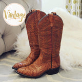 Vintage Marbled Cowboy Boots: Alternate View #1