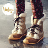 Vintage Cozy Snow Boots: Alternate View #1