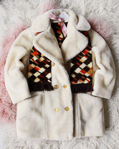 Vintage Retro 60's Faux Fur Coat
