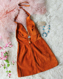 Vintage 60's Suede Dress: Alternate View #4
