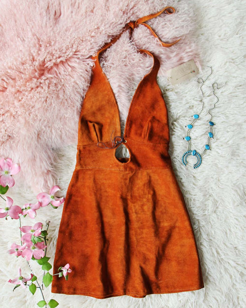 Vintage 60's Suede Dress: Featured Product Image