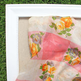 Vintage 60's Rose Scarf: Alternate View #2