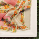 Vintage 60's Rose Scarf: Alternate View #3