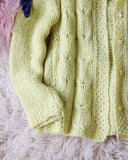 Vintage 50's Daffodil Sweater: Alternate View #3