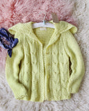 Vintage 50's Daffodil Sweater: Alternate View #1